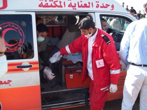 Medic team in Zaytoun