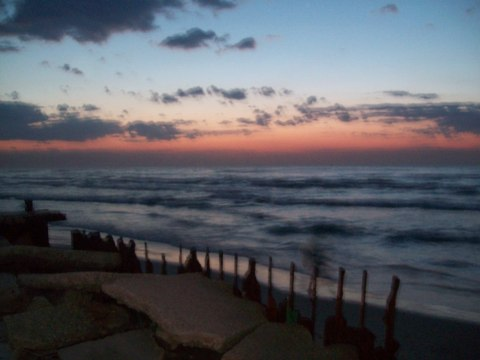 Sunset over Gaza sea, 6pm today