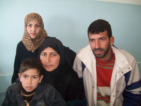 Wafa's family, including mum Amal and brother Shahdi