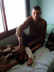 Mohammed, shot in foot Feb 18, pic from www.ingaza.wordpress.com