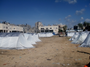 Kamal Adwan camp - 'These are new tents - the first tents you wouldn't even put animals in'