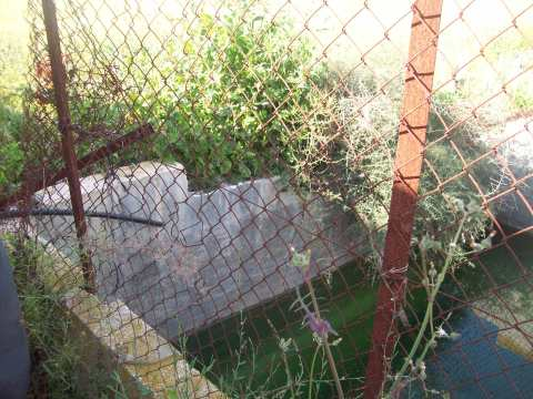 Well's diesel pump was bulldozed May 08, water now stagnant