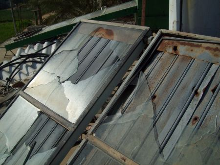 Solar water heater shot to pieces May 08