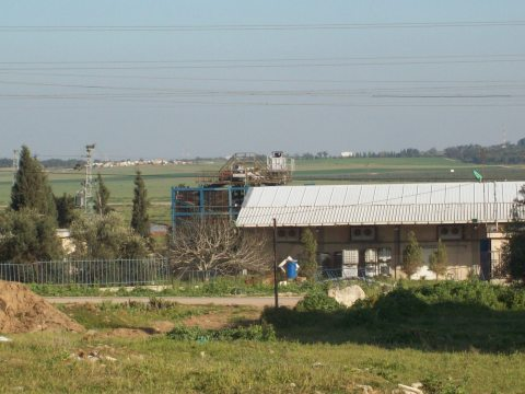 View from Al Wafa: buildings on the horizon are on Israeli side