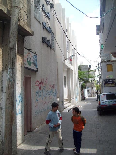 Pink doorway on left into Al Assria Cultural Centre
